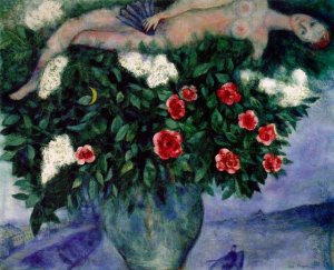 Chagall - Woman & Roses