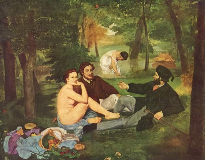 Eduard Manet - Petit Dejeuner sur l'herb, 1863