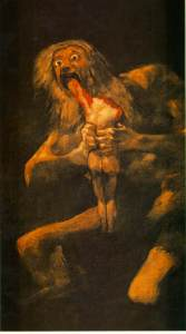 "Francisco Goya - ""Saturn Devouring His Sons"""