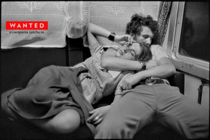 """""""România. Într-un tren. 1975"""" - Henri Cartier-Bresson"""