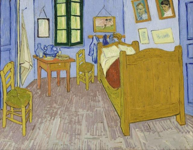 Vincent van Gogh - Bedroom in Arles,1888 (Van Gogh Museum, Amsterdam)